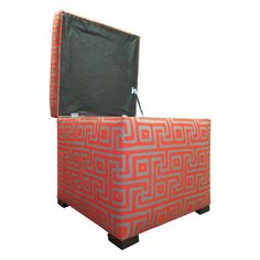 Tami Greece Atomic Storage Ottoman | Overstock.com Shopping - Great Deals on Sole Designs Ottomans