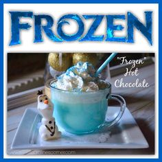 Frozen fans will love this delicious hot chocolate.  Check out the other ideas while you're here.