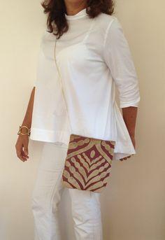 Fabric Clutch bags /  Clutch Purse / Crossbody by vquadroitaly