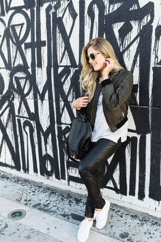 How To Dress Down Leather Pants