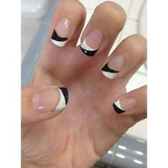 22 Awesome French Manicure Designs ❤ liked on Polyvore featuring beauty products, nail care, nail treatments i nails