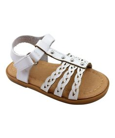 Loving this White Angel Braided Sandal - Kids on #zulily! #zulilyfinds