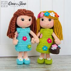 Daisy the Spring Girl Amigurumi Crochet Pattern by One and Two Company
