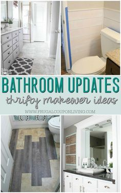 Moving, Updating your home?  We love these Remodeled Bathroom Ideas | Budget-friendly, Inspiring Makeovers to keep up with the Jones. Full list of frugal ideas on Frugal Coupon Living. These are great home improvements for staging a home! #bathroom #bathroomideas #homeimprovement #bathroomideas