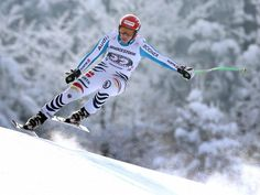 Josef Ferstl fährt bei der Weltcup-Abfahrt auf der Kandahar-Piste in Garmisch-Partenkirchen auf den neunten Rang. (Foto: Karl-Josef Hildenbrand/dpa)