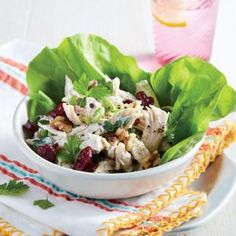 Chicken Salad Lettuce Cups | MyRecipes.com