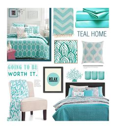 """""""Teal Home"""" by edenslove ❤ liked on Polyvore featuring Hearts Attic, Martha Stewart, Surya, Belle Epoque, DENY Designs, Jamie Young, Americanflat and Universal Lighting and Decor"""