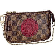 LV trunks and bags damier mini pochette (inside is red!)