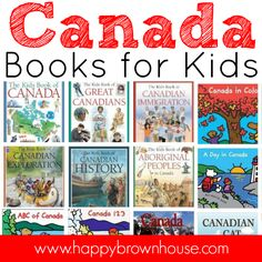 This list of Canada Books for Kids is perfect for helping you study Canada, geography, and other cultures in your classroom or homeschool. Brown House, World Geography, Canadian History, Social Activities, School Themes, Book Recommendations, Childrens Books, Homeschool, Canada