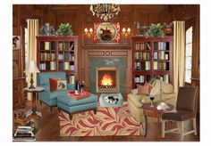 B's Library by bella2449 features CR Laine's Camden Chair and Ottoman