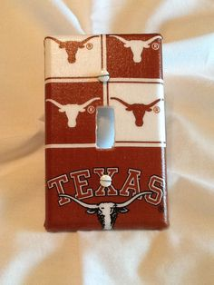 Items similar to Texas Longhorns Light Switch Cover on Etsy Texas Longhorns Football, Hook Em Horns, Texas Man, I Love My Son, Switch Plates, Light Switch Covers, Little Man, Erika, Fathers