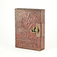 Tree of Life Leather Journal w/Brass Latch