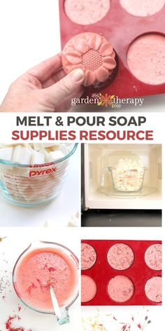 If you are getting started with melt and pour soap (or are searching out the best supplies for soap-making projects), you have come to the right place! This comprehensive guide covers the melt and pour soap supplies you will need to make fantastic soap projects. #gardentherapy #soap #diy Craft Projects For Kids, Cool Diy Projects, Outdoor Projects, Soap Supplies, Best Cleaning Products, Do It Yourself Projects, Shabby Chic Cottage, Beauty Recipe, Garden Crafts