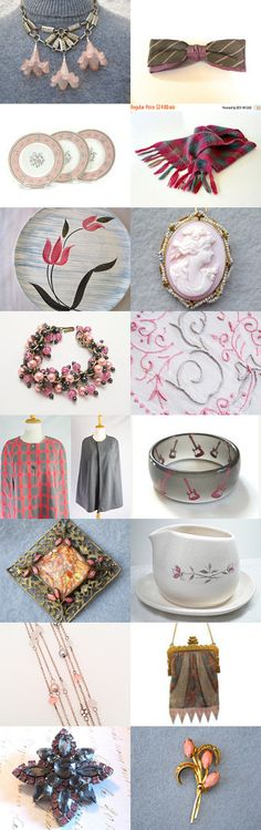 PINKISH #voguet by Betty J. Powell on Etsy, www.PeriodElegance.etsy.com #vintagegifts #vogueteam #pink