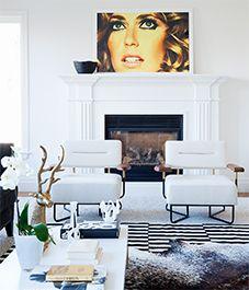 Living room design: Graphic elegance