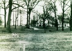 Graceland before it was bought by Elvis in 1957. You can still see the For Sale sign on the lawn