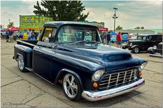 1955 Chevrolet Custom Stepside Pickup by Mark O'Grady\MOSpeed Images, via Flickr