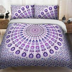 Find many great new & used options and get the best deals for Indian Pink Peacock Mandala King Size Bedding Bedspread Duvet Quilt Cover Doona at the best online prices at eBay! Bed Sizes, Blanket Cover, Quilt Cover, Bed Covers, Pillow Covers, Pillow Set, Boho Comforters, Mandala Duvet Cover