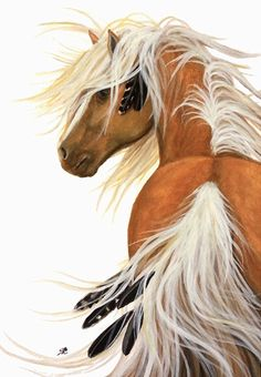 Majestic Flaxen Palomino Horse ArT Giclee Print by AmyLynBihrle Most Beautiful Horses, Pretty Horses, Palomino, Appaloosa, Native American Horses, Indian Horses, Horse Artwork, Inspiration Art, Painted Pony