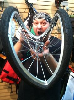 "Here is a pic of a wheel I tacoed. I also have the nick name ""taco tony"" given to me by felt bicycles from tacoing one of there demo bikes. thanks"
