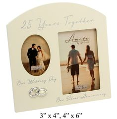 Contemporary '25 Years Together' Then and Now Silver Anniversary Frame By Haysom Interiors >>> Be sure to check out this awesome product. (This is an affiliate link and I receive a commission for the sales)