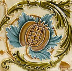 Art Nouveau antique tile by Celwell, via Dreamstime