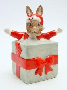 Bunnykins Christmas Surprise by Royal Doulton