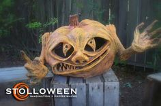 """Papier Mache Pumpkins (2008)"" by Scott A. Stoll"