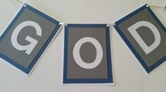 God Bless Baptism Banner by IttyBittyBoutik on Etsy