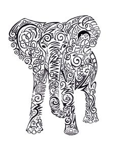 tribal elephant tattoo stencil by annie black tribal elephant tattoo Elephant Stencil, Tribal Elephant, Elephant Tattoo Design, Elephant Design, Elephant Tattoos, Tribal Tattoos, Creative Tattoos, Unique Tattoos, Cool Tattoos