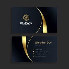 Gold Business Card, Business Card Design, Business Cards, Branding Design, Logo Design, Graphic Design, Name Card Design, Theme Template, Editorial Design