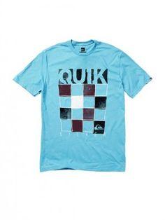 Camiseta Quiksilver Men s Skiller T-Shirt Blue Mist Solid  Camiseta   Quiksilver a6b90a911e0