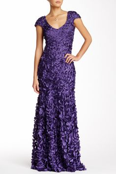 Theia | Applique Mermaid Gown | Nordstrom Rack
