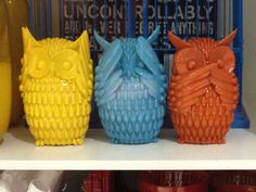 Hear No Evil, See No Evil, Speak No Evil Ceramic Owls