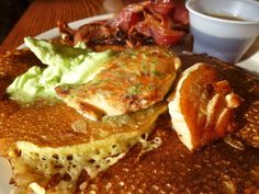 Johnnycakes (Cornmeal Pancakes) with Chili Syrup | Recipe | Johnnycake ...