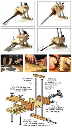 Chisel and Plane Iron Sharpening Jig Plans - Sharpening Tips, Jigs and Techniques | WoodArchivist.com