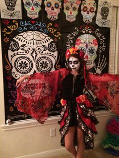 Day of the dead party photo booth fun