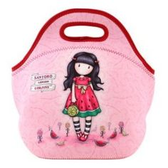Santoro Gorjuss - Breakfast Bag - Neoprene Lunch Bag - One Boy One Girl Santoro London, Neoprene Lunch Bag, First Girl, Lunch Box, Breakfast, Boys, Summer, Card Ideas, Style