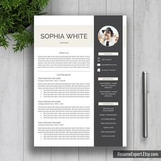 Professional Resume Template US Letter A4 Word CV by ResumeExpert