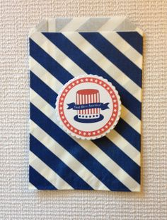 4th of July tags and bags Patriotic tags and by Justabitofpaper, $10.00