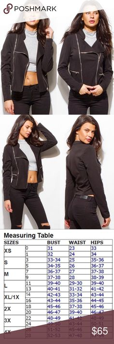 ✅PRE-ORDER✅Moto Jacket🌟🌟 ✅PRE-ORDER✅Moto Jacket🌟🌟 Color∽Black Fabric∽95% Polyester, 5% Spandex You KNOW you simply MUST have this jacket in your wardrobe for FALL🍂!! Threadzwear Jackets & Coats Utility Jackets