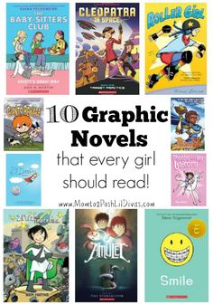 Mom to 2 Posh Lil Divas: 10 Graphic Novels for Girls (8 -12 Years Old) @momto2poshdivas