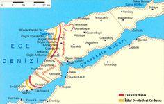 Çanakkale Cephesi Haritası - www.turkosfer.com