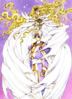 Eagle Vision & Emeraude by Magic Knight Rayearth Manga Illustration, Illustrations, Manga Anime, Arte Nerd, Magic Knight Rayearth, Xxxholic, Familia Anime, Manga Artist, Cardcaptor Sakura