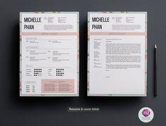 Plantilla CV plantilla de carta de presentación plantilla de