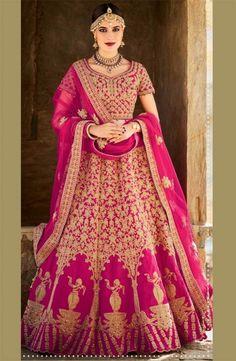 Rani Pink Bridal Lehenga