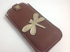 Handytasche Libelle -nach Maß-  von Angie Holste -  Manufaktur ☆ Accessoires aus Leder auf DaWanda.com