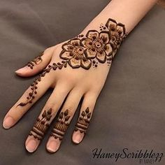 Most beautiful and easy mehndi designs See more ideas about Henna designs easy, Henna designs and Henna. How to Do Henna Design for B. Henna Flower Designs, Pretty Henna Designs, Latest Henna Designs, Finger Henna Designs, Mehndi Designs For Beginners, Mehndi Design Photos, Unique Mehndi Designs, Mehndi Designs For Fingers, Mehndi Designs For Hands