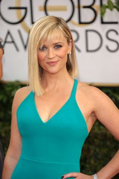 Reese Witherspoon with a modern asymmetrical style bob x