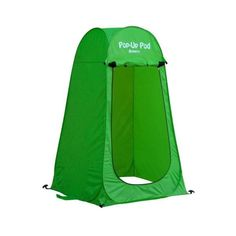 GigaTent Portable Pop Up Changing Room Green-ST002 - The Home Depot Tent Set Up, Pop Up Tent, Pop Up Changing Room, Sun Shade Tent, Portable Outdoor Shower, Boy Scout Camping, Add A Room, Camper Awnings, Tent Camping
